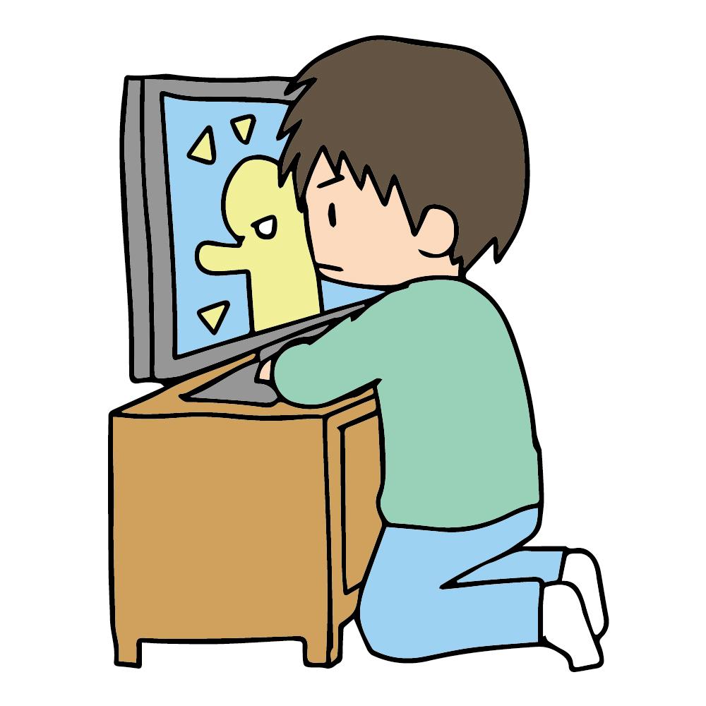 子供 テレビ 姿勢